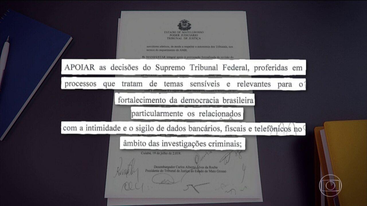 Presidentes de TJs dão apoio a decisões do STF sobre sigilo de dados bancários e fiscais