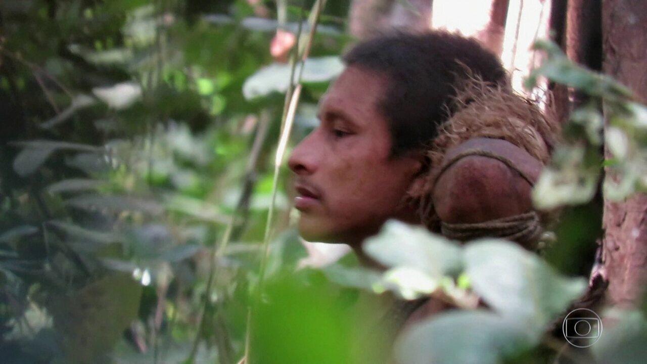 Índios se unem para proteger a floresta de incêndios e desmatamento