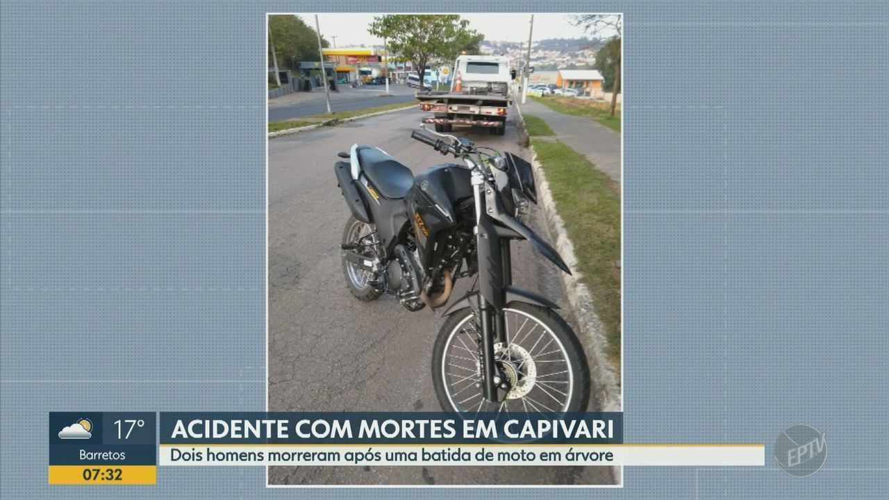 Dois morrem em acidente envolvendo moto em Capivari