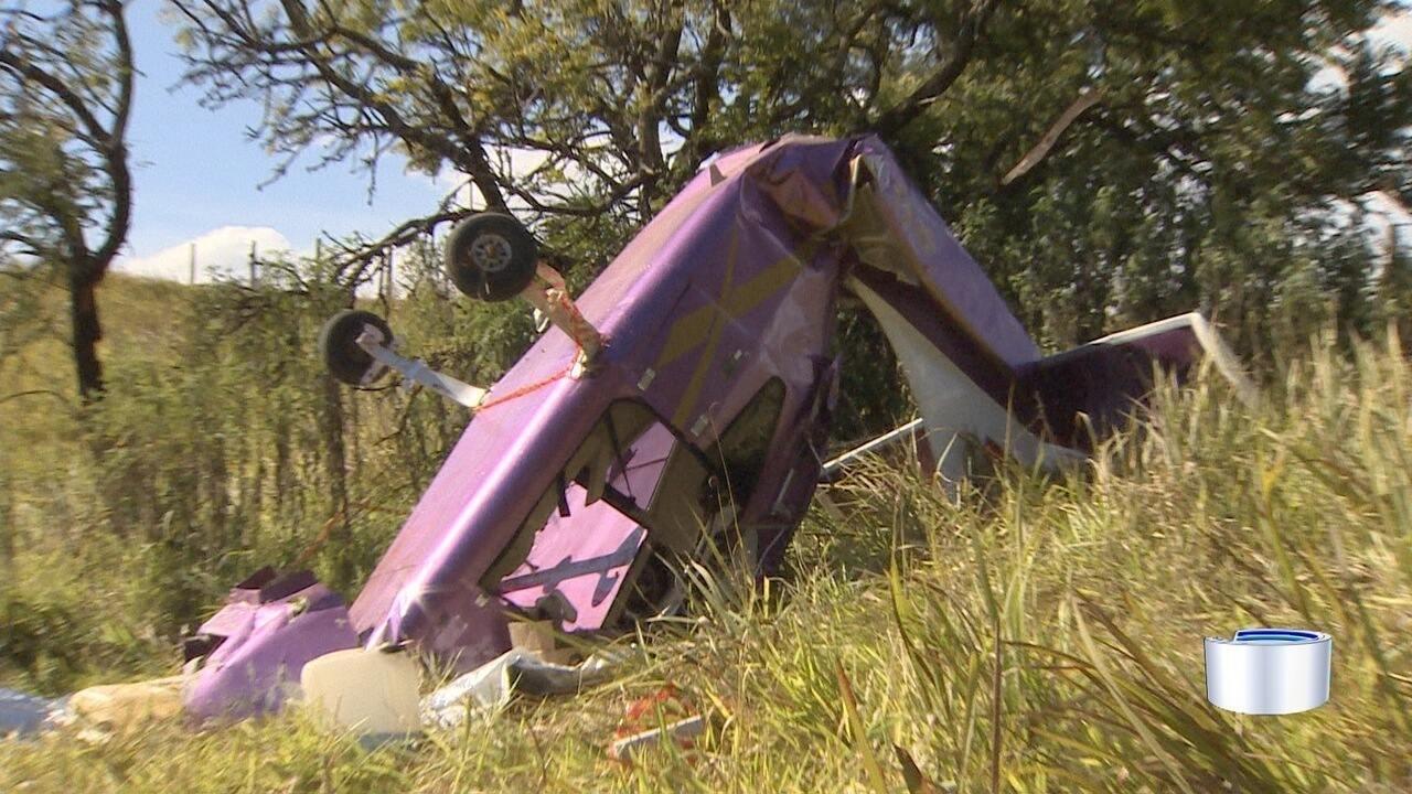 Queda de aeronave deixa dois homens feridos em Atibaia, SP