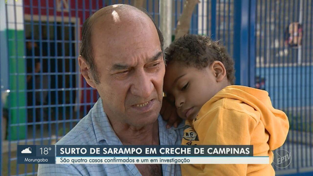Campinas registra surto de sarampo em creche com quatro casos confirmados da doença