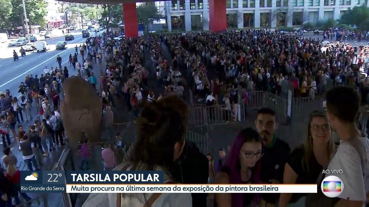 Milhares de pessoas fazem fila na exposição da Tarsila do Amaral