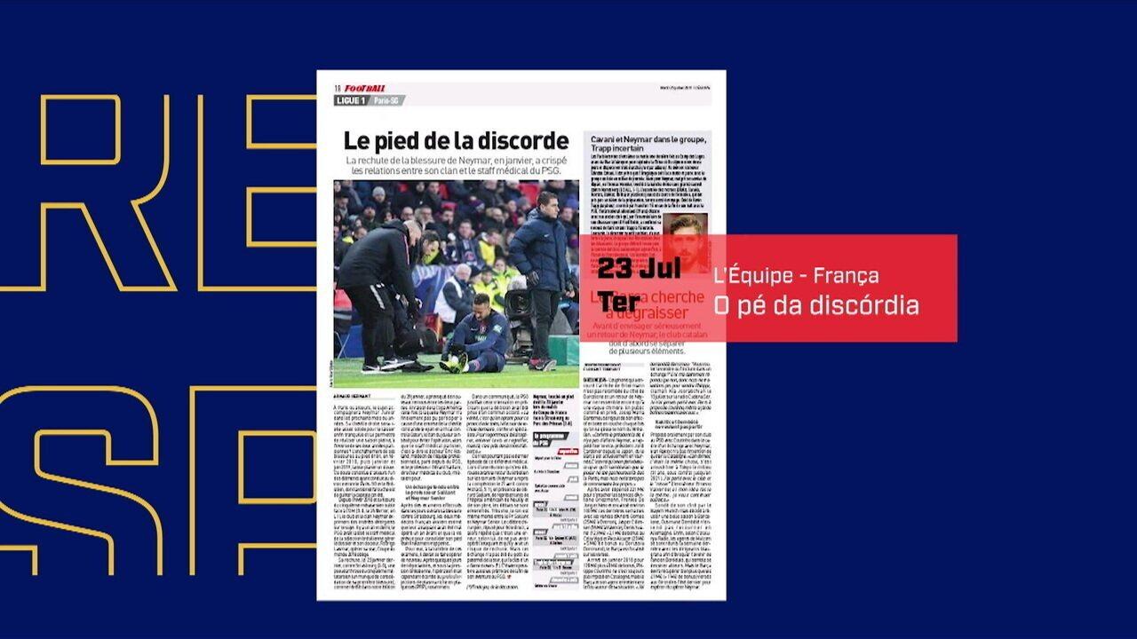 Jornal diz que discordância em tratamento de Neymar aumentou tensão com PSG