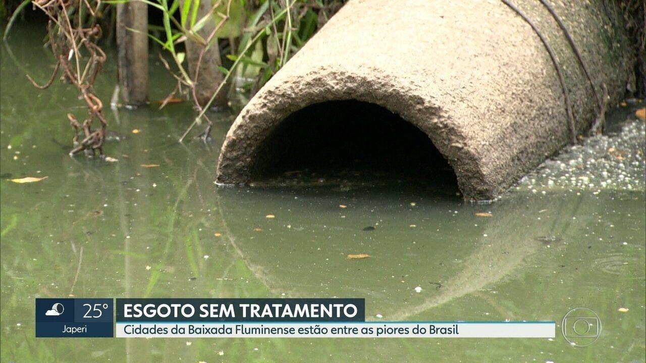 Cidades da Baixada Fluminense estão entre as piores do Brasil no esgoto sem tratamento