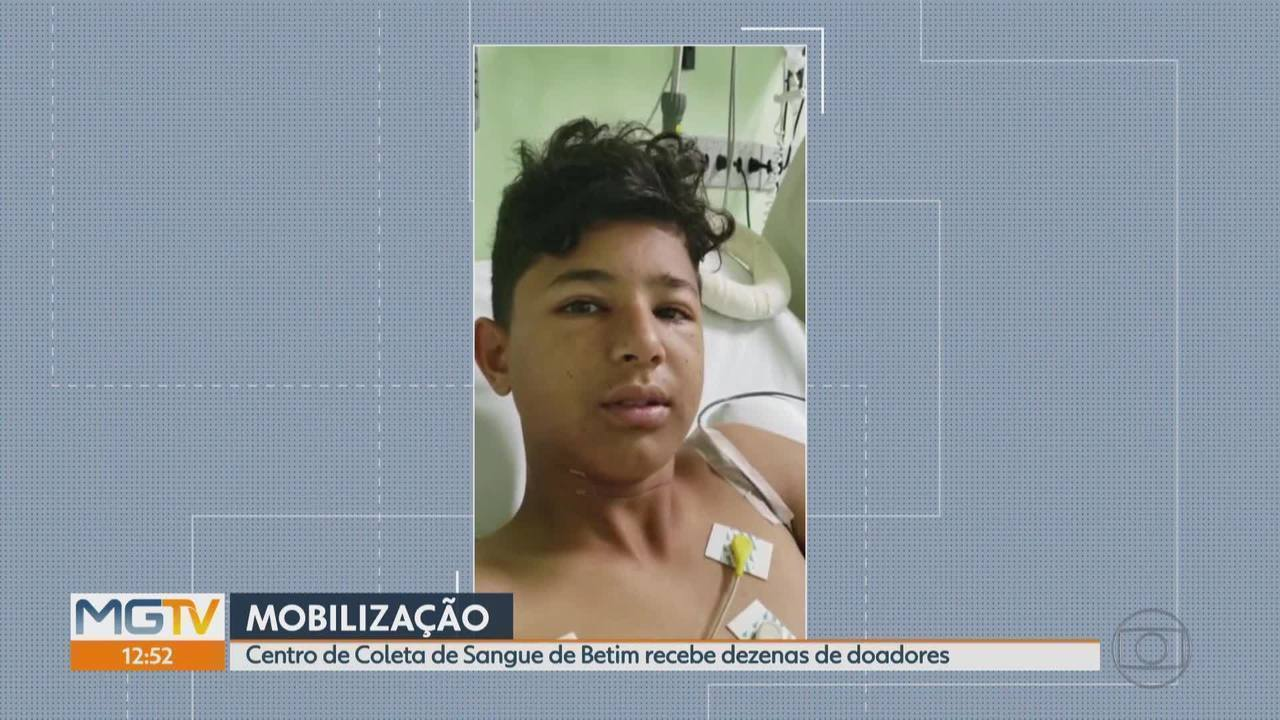 Aumentam doações de sangue para ajudar menino Gabriel Lucas, em Betim