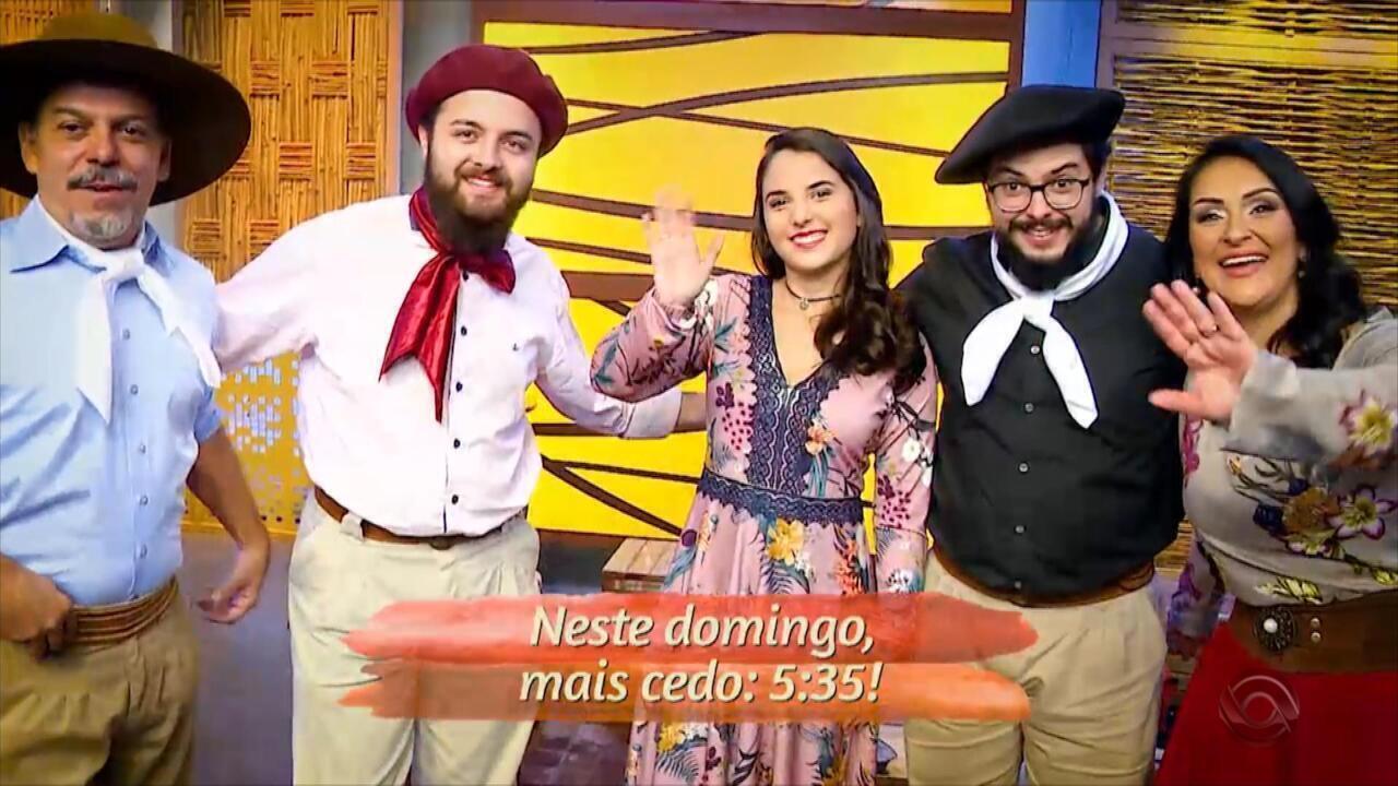 Confira o Galpão Crioulo deste domingo (28)