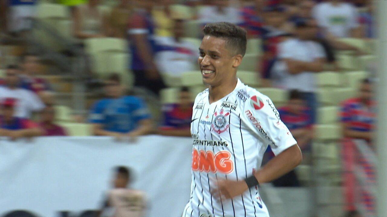Melhores momentos de Fortaleza 1 x 3 Corinthians pela 12ª rodada do Campeonato Brasileiro