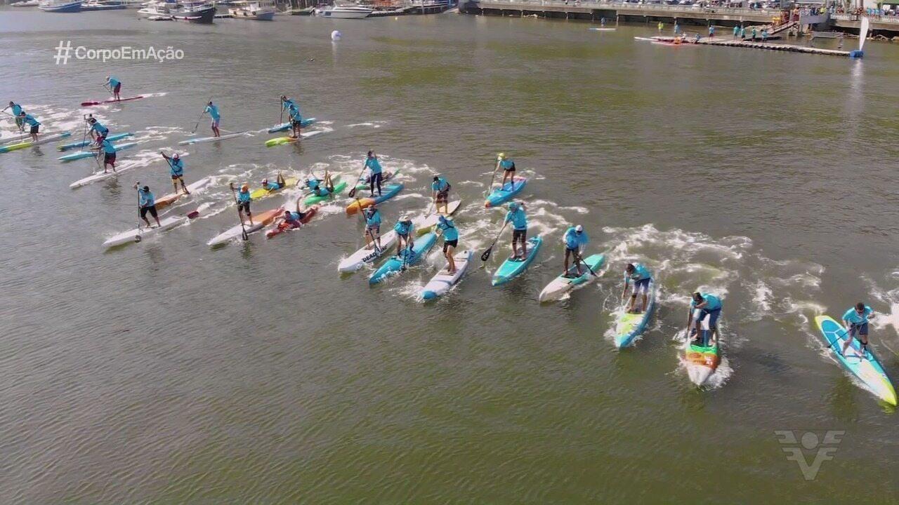 Surfistas do SUP Race se reúnem em São Vicente na segunda etapa do Circuito Paulista