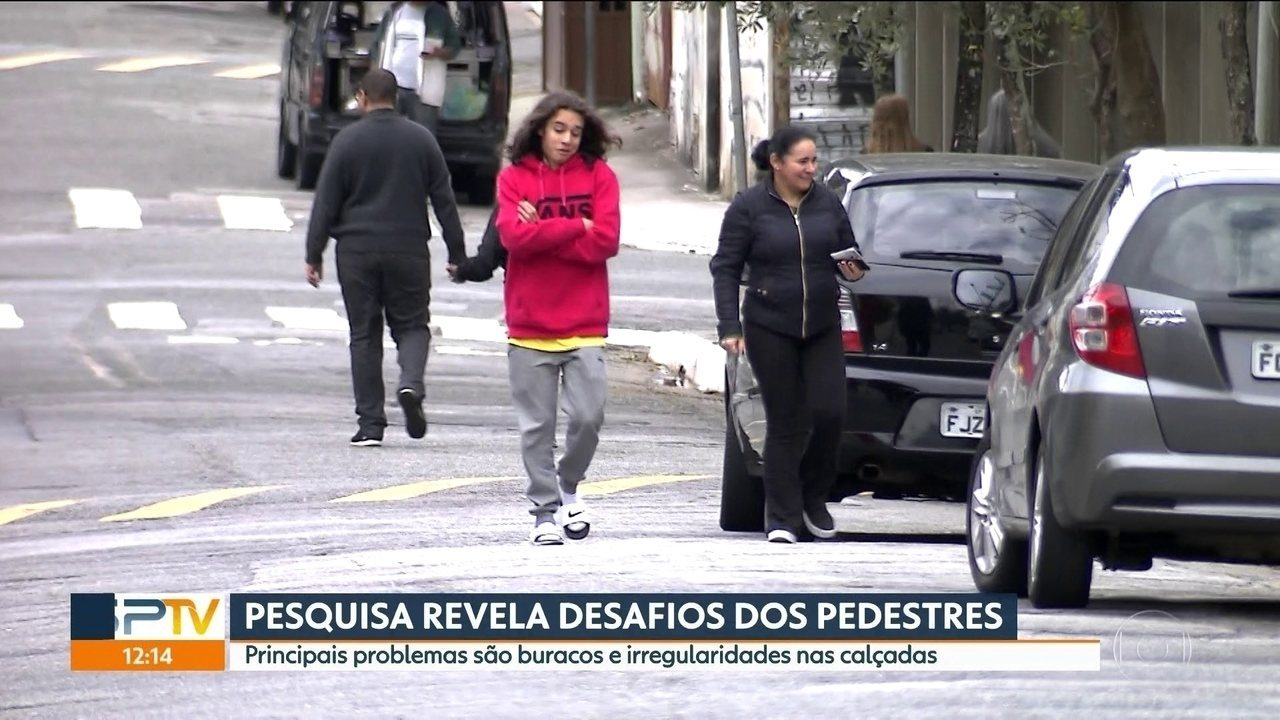 Pesquisa revela hábitos dos pedestres de SP