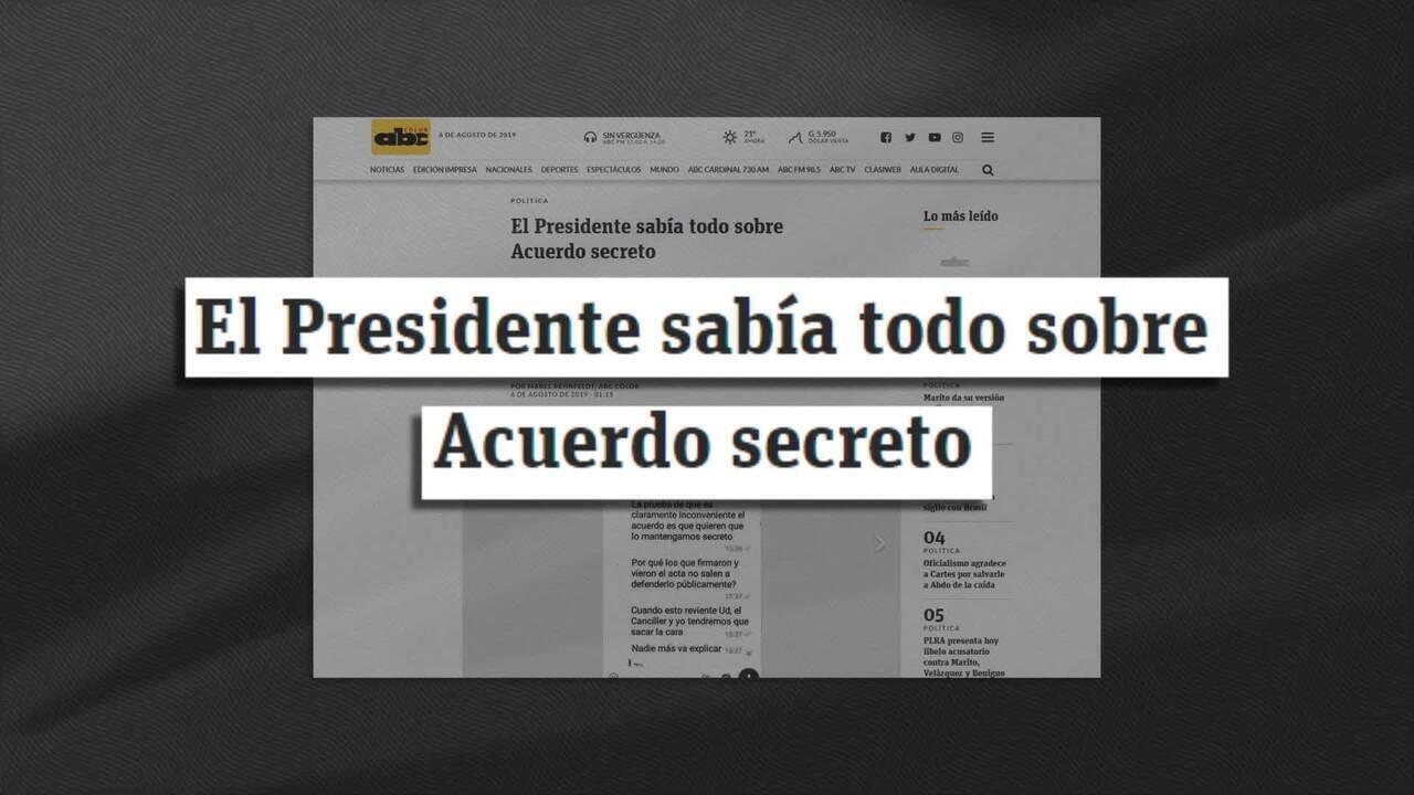 Mensagens revelam que presidente paraguaio sabia do acordo de Itaipu