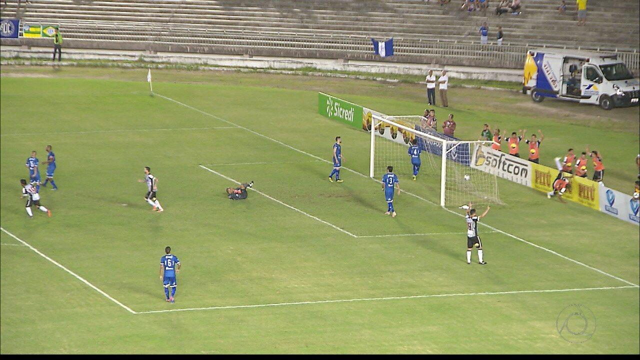 Confira os lances da vitória do Botafogo-PB sobre o Confiança, pela Série C