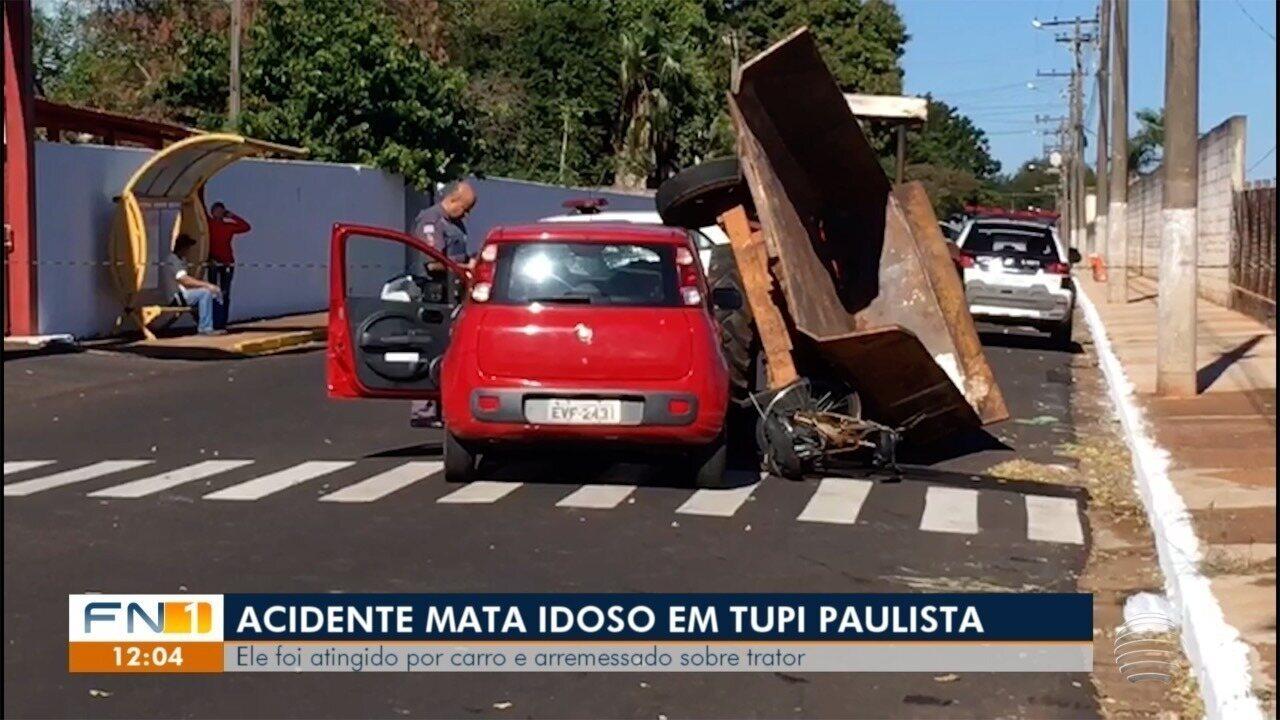 Idoso morre vítima de acidente de trânsito em Tupi Paulista