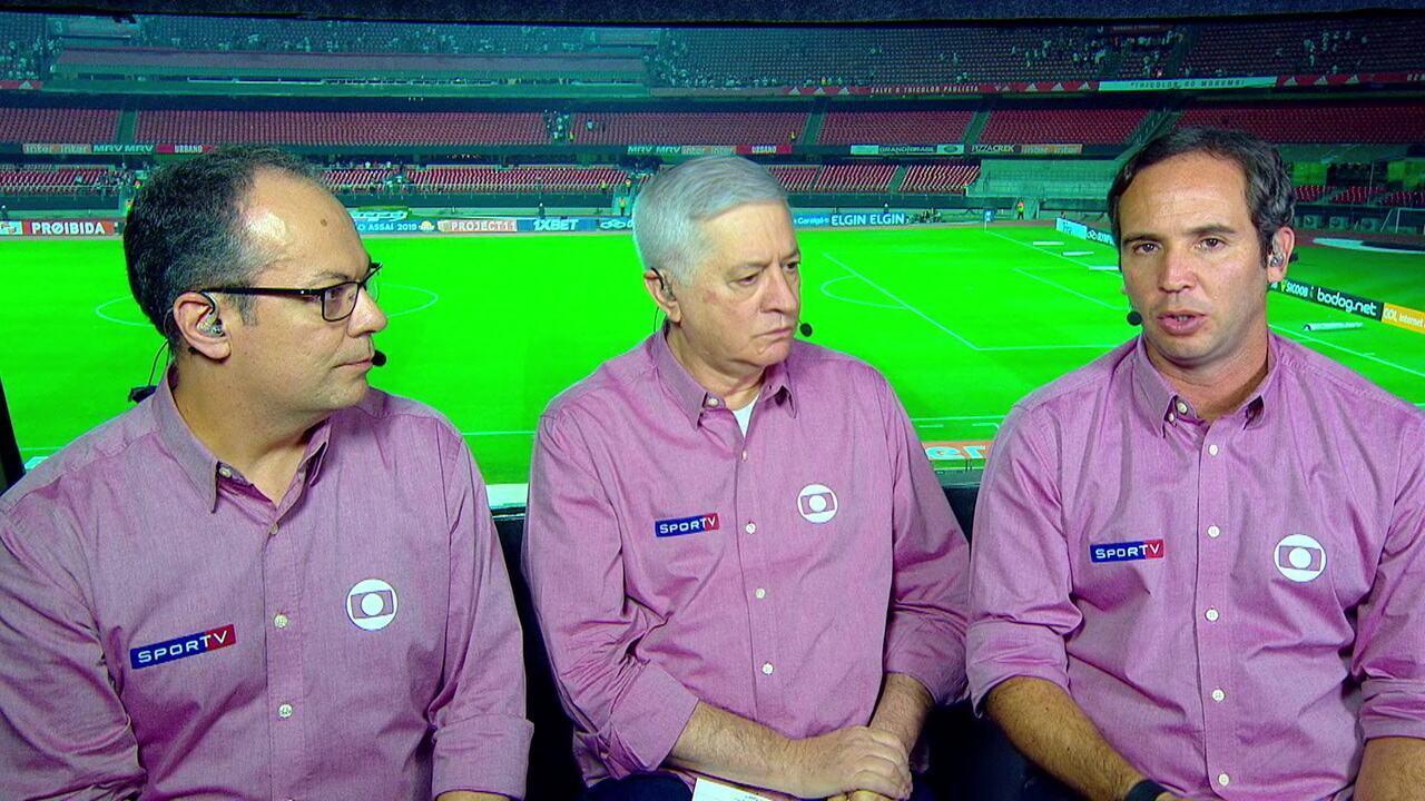 Jota Jr, Caio Ribeiro e Vilaron analisam a vitória do São Paulo contra o Santos