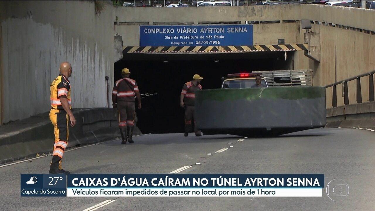Acidente interdita Túnel Ayrton Senna