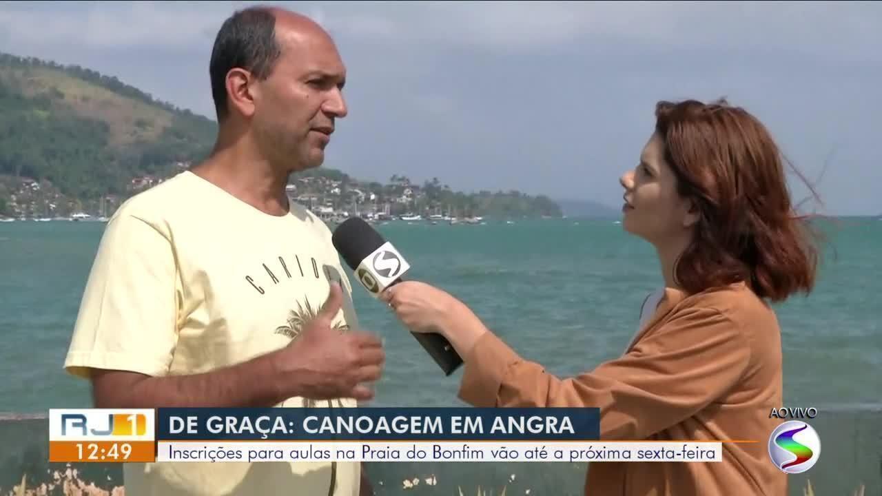 Aulas de canoagem são oferecidas gratuitamente em Angra dos Reis