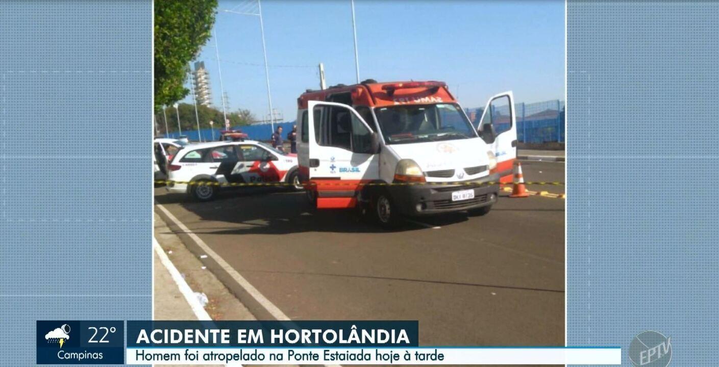 Acidente mobiliza helicóptero da PM, em Hortolândia