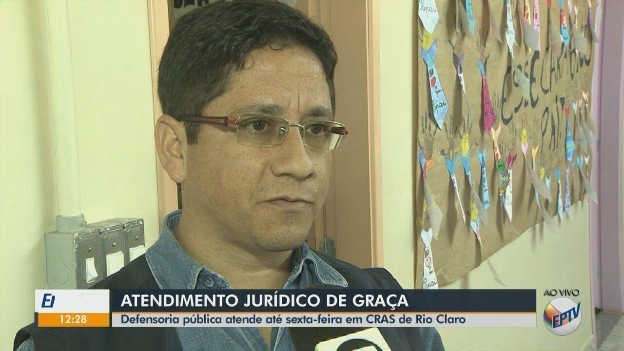 Defensoria pública realiza atendimento jurídico de graça em Cras de Rio Claro