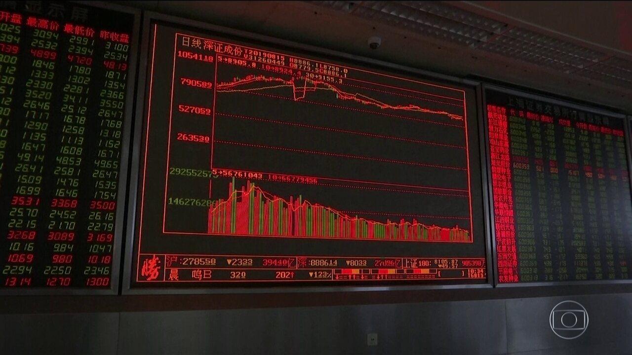 Medo de recessão global assusta investidores e derruba bolsas