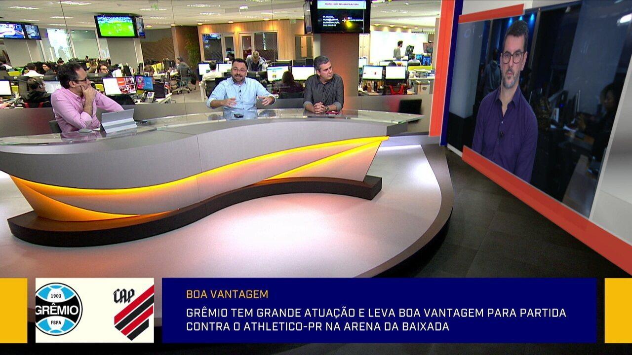 Comentaristas debatem sobre a evolução do Matheus Henrique e do Jean Pyerre no Grêmio