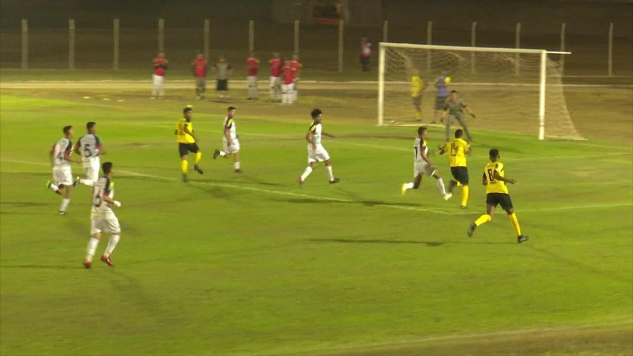 Gol do Vilhenense contra o Real Ariquemes Sub-20