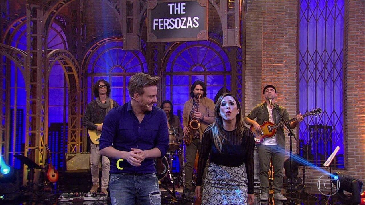 Tatá Werneck e Michel Teló encerram programa cantando juntos