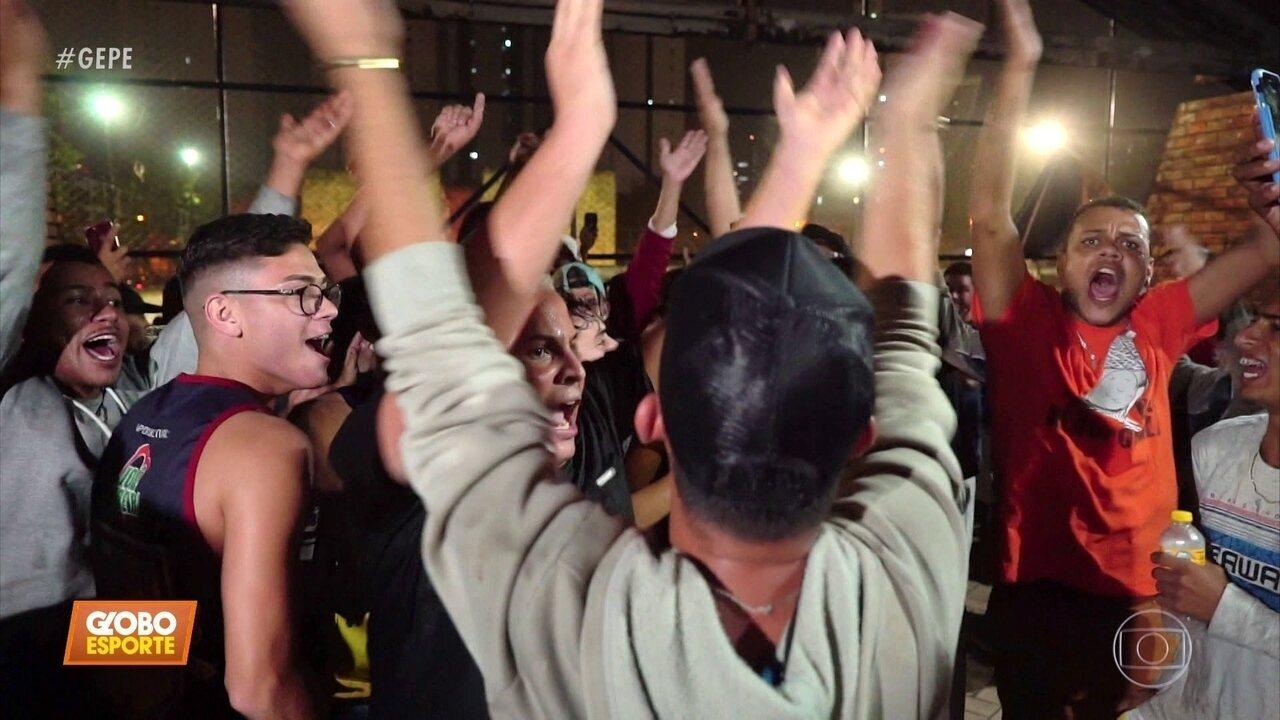 Pela Copa dos MC's, muito toró, emoção e resenha, no jogo entre DJ Raio e MC Tocha