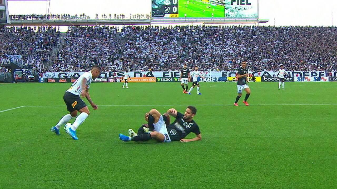 Melhores momentos: Corinthians 2 x 0 Botafogo pela 15ª rodada do Brasileirão
