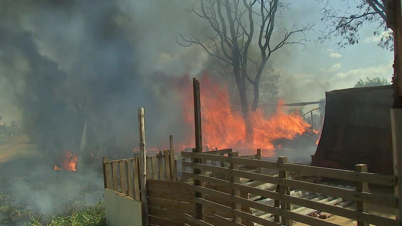 Número de incêndios triplica em MS no mês de agosto