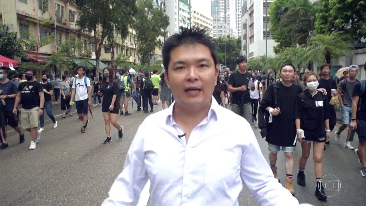 Brasileiros em Hong Kong falam de protestos nas ruas