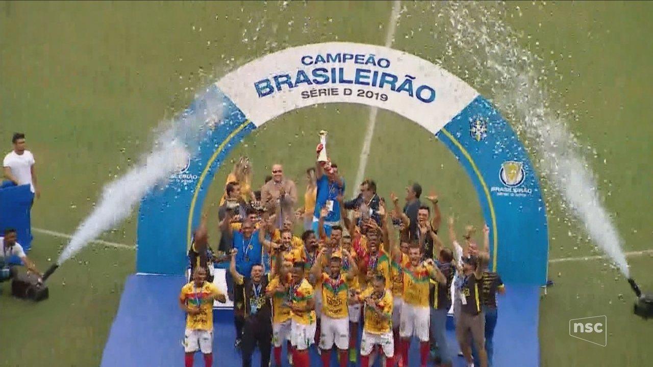 Brusque bate o Manaus nos pênaltis e conquista título da Série D