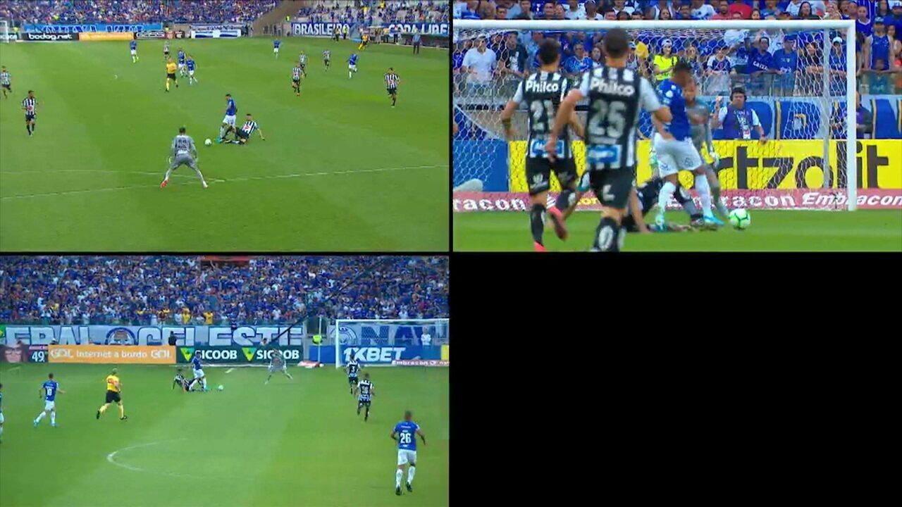 Confira o diálogo do Daronco com o VAR em Cruzeiro x Santos