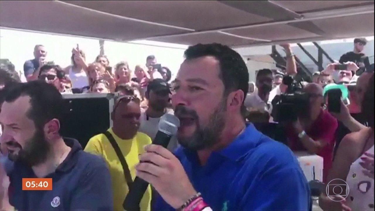 Partido de extrema-direita da Itália pode derrubar governo formado por Matteo Salvini
