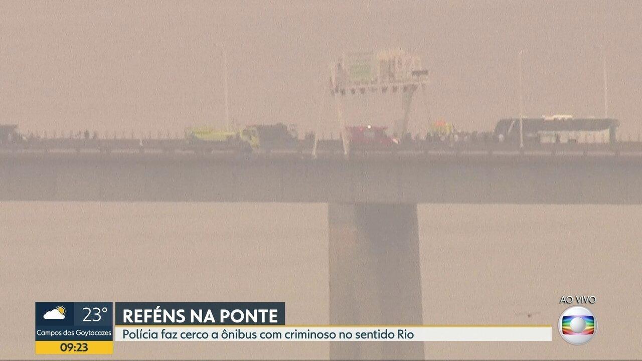 Porta-voz da PM fala sobre ação de policiais em sequestro de ônibus na Ponte Rio-Niterói