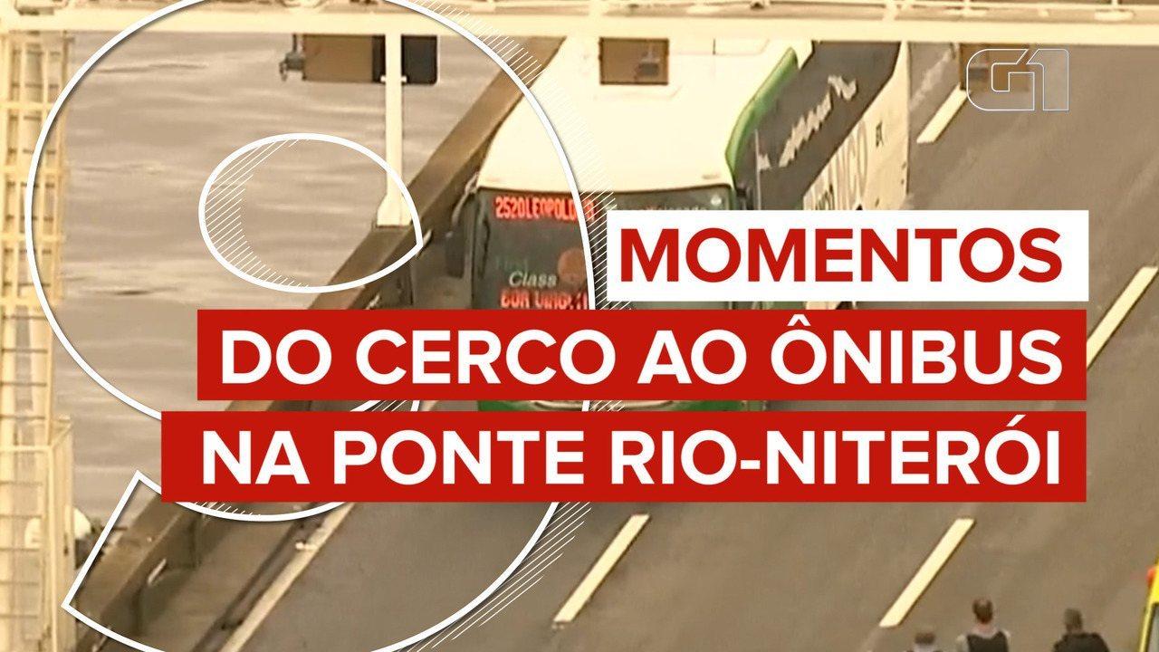 Veja 9 momentos do cerco ao ônibus na Ponte Rio-Niterói