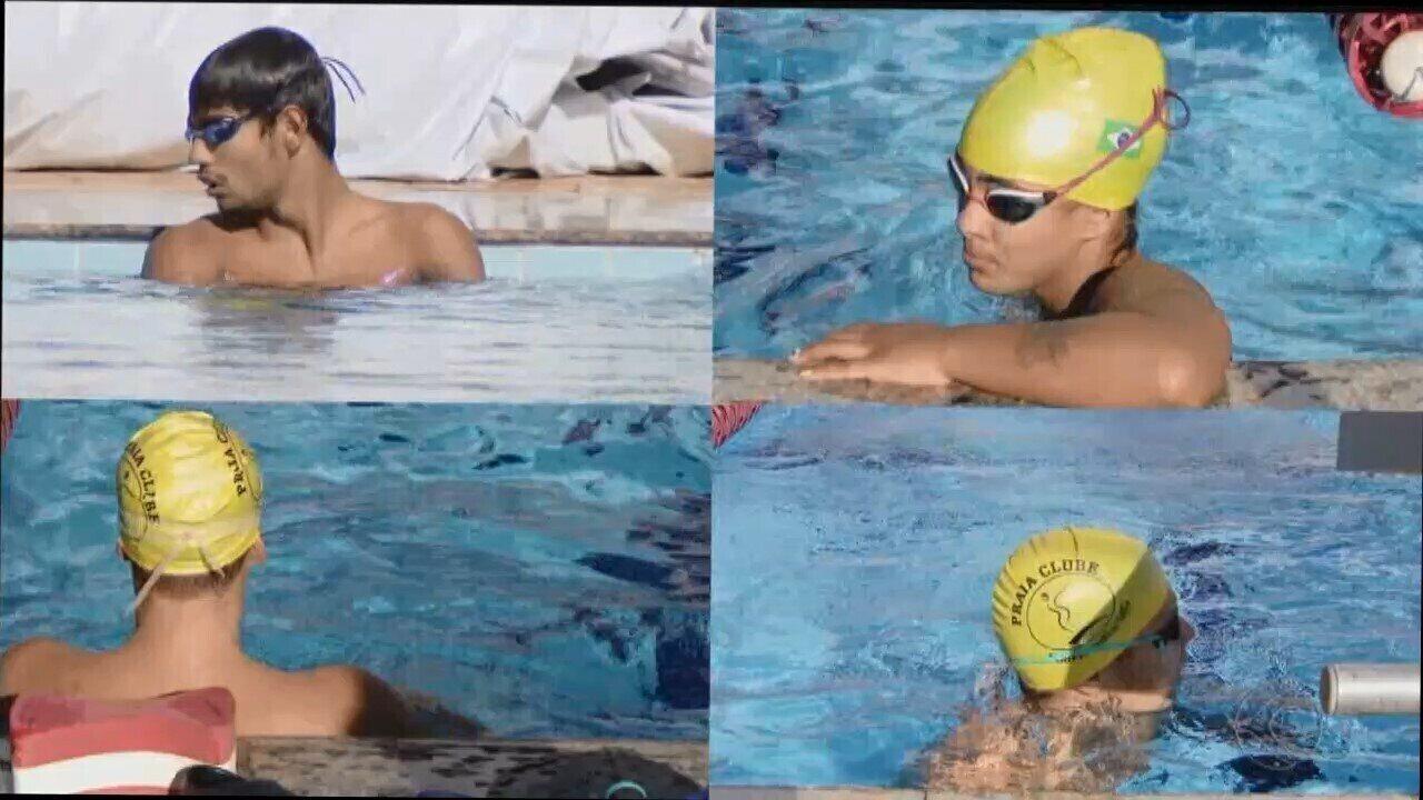Quatro nadadores e treinador do Praia Clube vão representar o Brasil no Parapan