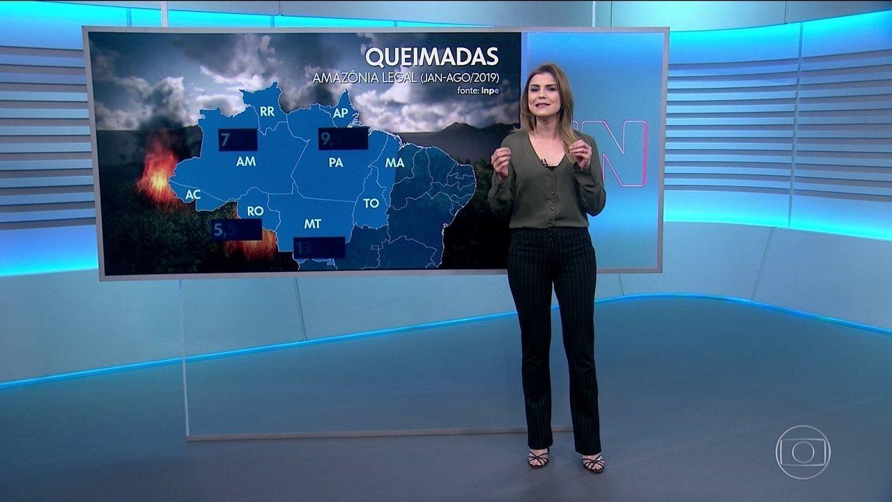 Previsão do tempo indica chuvas isoladas nas regiões de queimadas