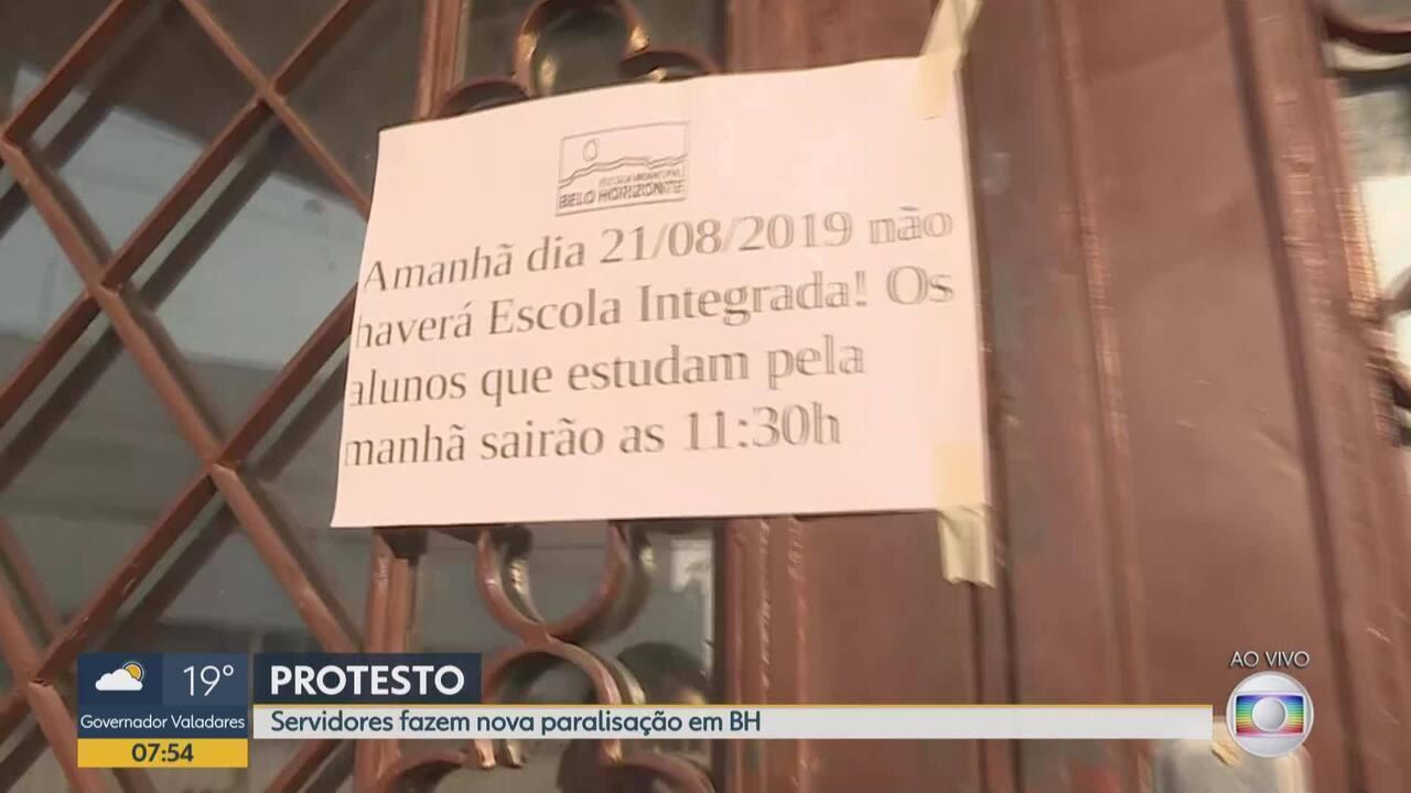 Servidores municipais da educação fazem nova paralisação em Belo Horizonte