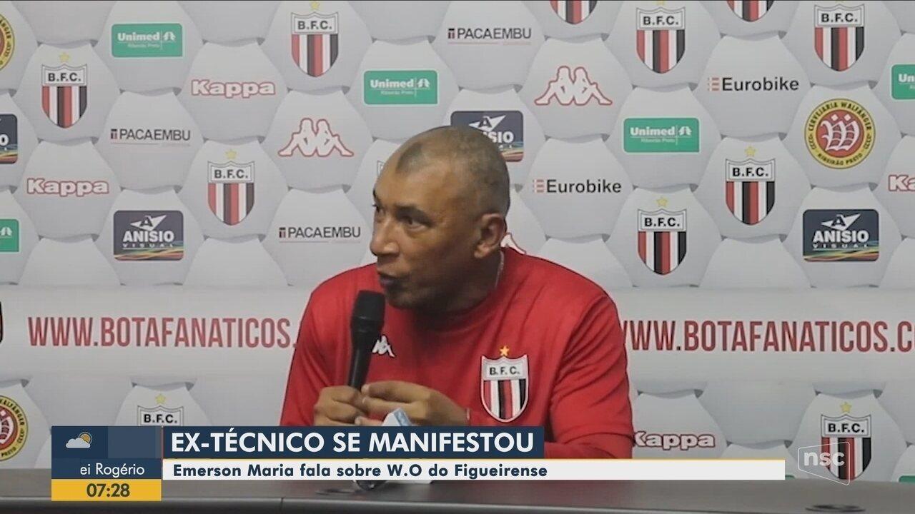 Membros e ex-técnico do Figueirense falam sobre situação do time