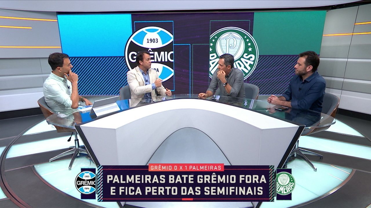 Comentaristas debatem sobre o jogo Grêmio e Palmeiras pela Libertadores