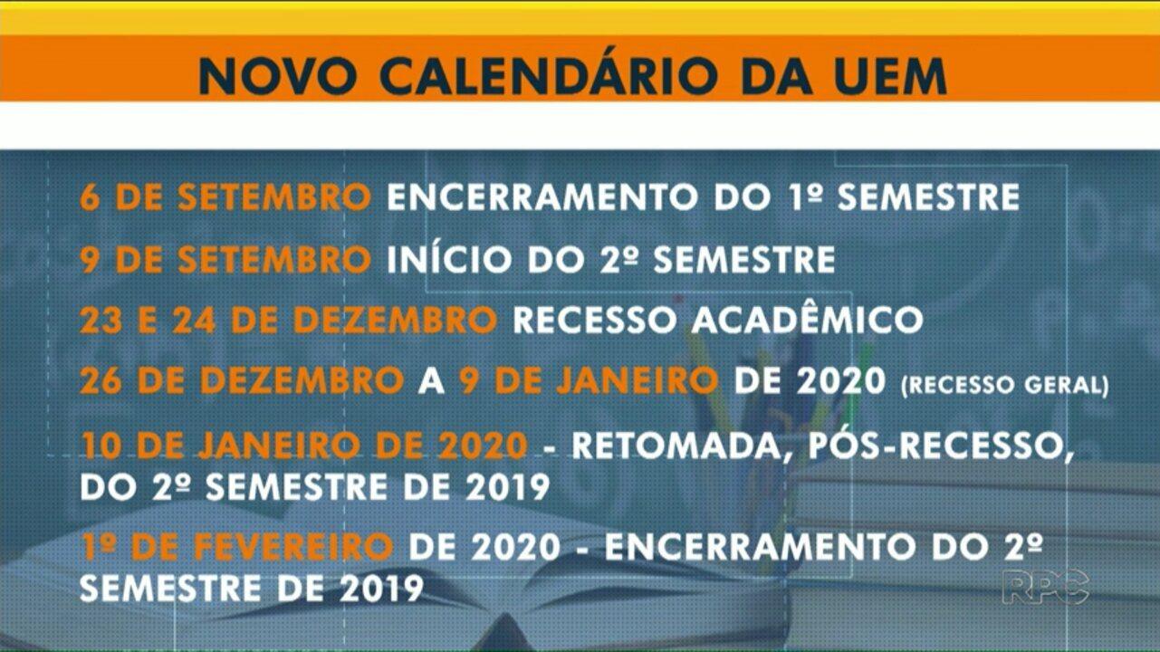Calendario Uem.Uem Divulga Novo Calendario Academico Com Aulas Ate Fevereiro