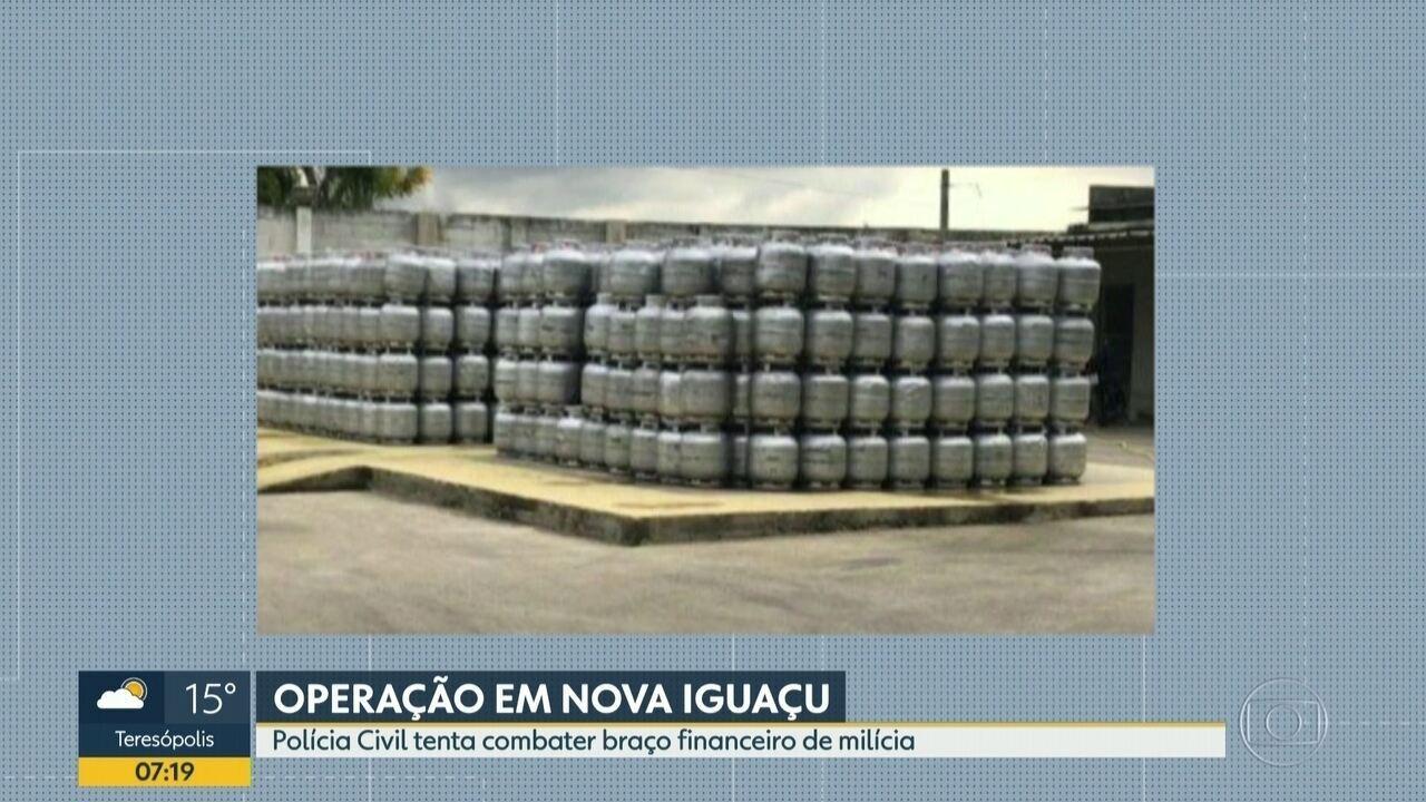 Polícia realiza operação contra a milícia em Nova Iguaçu