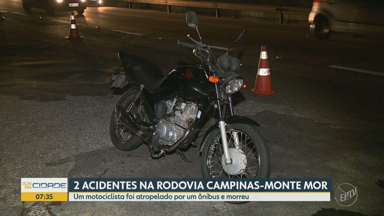 Motociclista morre após ser atropelado por ônibus em Rodovia de Campinas