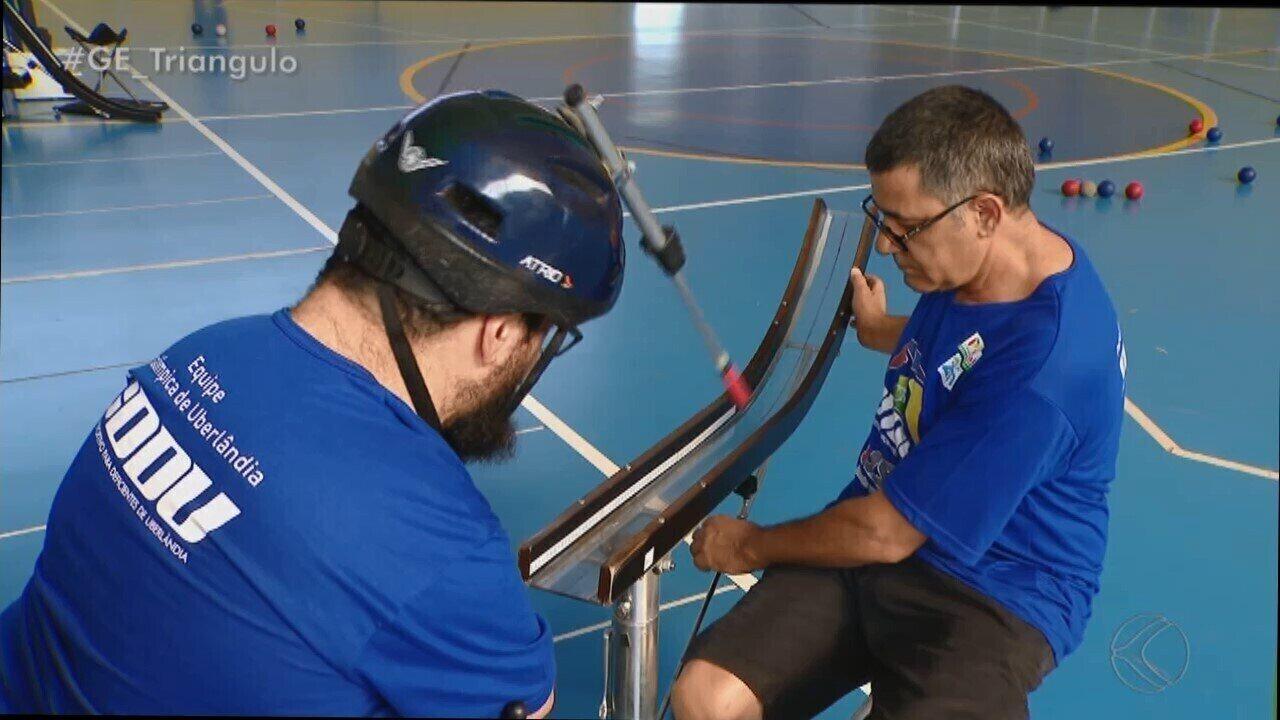 Com dupla de pai e filho na equipe, conheça os competidores da região na bocha no Parapan