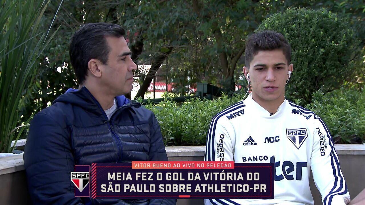 Vitor Bueno fala sobre bom momento do São Paulo no Brasileiro