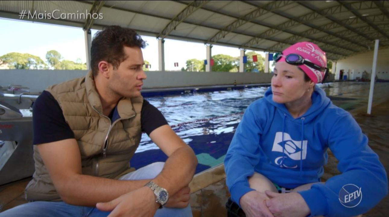 Pedro Leonardo conheceu a história de superação da nadadora paralímpica Raquel Viel