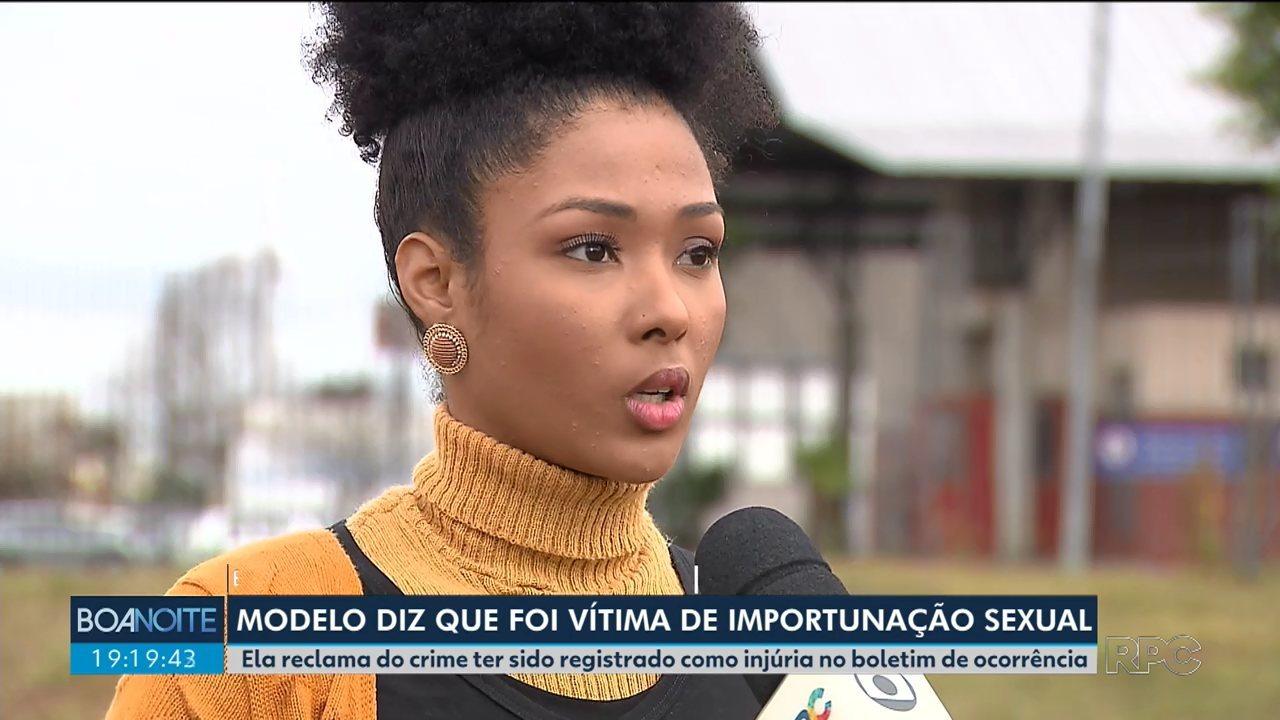 Modelo de Pinhais diz ter sido vítima de importunação sexual