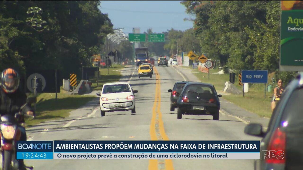 Ambientalistas apresentam novo projeto pra faixa de infraestrutura no litoral