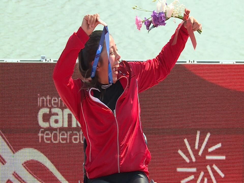 Chilena Katherine Wollerman tem crise de espasmos após prova e recebe medalha de bronze