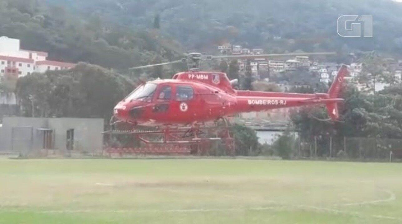 Helicóptero leva recém-nascido de Petrópolis para hospital no RJ