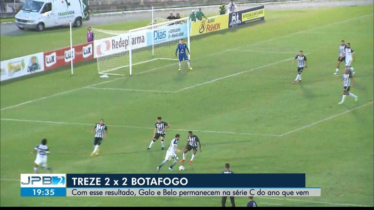 Treze e Botafogo empatam no Amigão, em Campina Grande